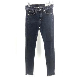 Rag & Bone Women's Jeans Mid High Rise Dark herita